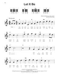 Includes sheet music and piano tutorial. Let It Be Sheet Music The Beatles Super Easy Piano Clarinet Sheet Music Easy Sheet Music Flute Sheet Music