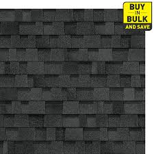 black architectural shingles. Delighful Shingles Owens Corning Oakridge 328sq Ft Artisan Twilight Black Laminated  Architectural Roof Shingles Inside