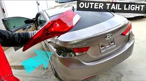 2012 Hyundai Sonata Rear Brake Light How To Remove And Replace Outer Tail Light On Hyundai Elantra