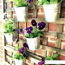 hanging fence planters pocket outdoor vertical living wall planter outdoor wall planters post outdoor wall