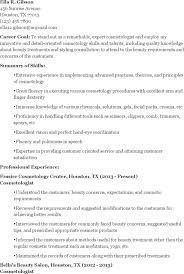 cosmetology resume templates premium templates cosmetology graduate resume