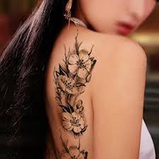 New Teens Kluci Muži ženy Vodotěsné Květinové Tetování Samolepky Na Ramenou Ramena Na Ramenou At Vova