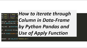 how to iterate through column in