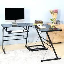 home office glass desk fice hartleys home office glass computer desk with keyboard shelf