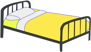 Bed clipart side view Pencil and in color bed clipart side view