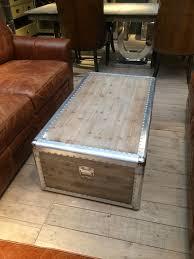 large aluminium trunk coffee table besters