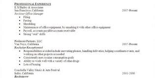 Receptionist Resume Sample Skills Salon Receptionist Resume Sample