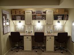Basement Workstation / Homework Station / Craft Station using stock  cabinets and laminate countertop from Lowes