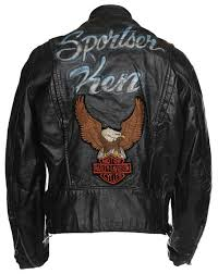 vintage 60s brooks customised leather biker jacket harley davidson l