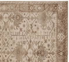 pottery barn persian rug incredible channing swatch with 2
