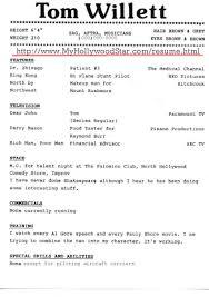 Acting Resume Template Acting Resume Template Download Free Free Resume Templates 81