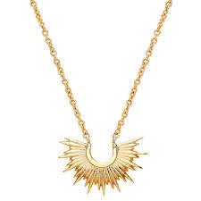estella bartlett half sunburst pendant necklace gold code 42262584 etrrdju