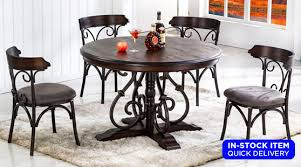 gladious pub table 4 chairs set