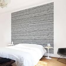 Tapete Holzoptik Holzwand Mit Schmalen Leisten Schwarz Weiß