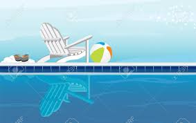 Flip Flop Chair Relaxing Swimming Pool And Adirondack Chair With Flip Flops