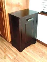 tilt out trash can diy double cabinet free standing garbage freestanding pull cans kitchen organizers dual tilt out trash bin