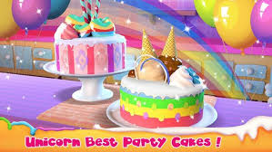 Unicorn Cake Bakery Chef Food Maker Baking Game For Android Apk