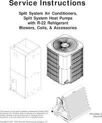 Goodman R22 Piston Chart Goodman Mfg Rt6100004r13 Users Manual