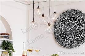 Nordic Modern Minimalist Creative Glass Ball Chandelier Dining Room Magnificent Chandelier Size For Dining Room Minimalist