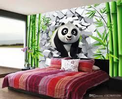 ... Custom 3d Wallpaper For Walls 3d Photo Wallpaper Murals 3D Broken Hole  Wall Of Cute Panda ...