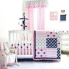 pink whale crib bedding set baby girl