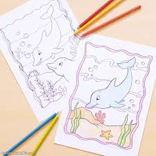 Dolphins and other marine mammals coloring book. Dolphin Coloring Pages Easy Peasy And Fun