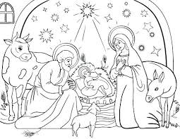 Nativity Scene Coloring Pages Preschoolers Nativity Scene Coloring