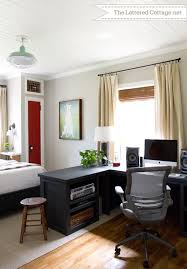 home office guest room combo. Home Office \u2013 Guest Bedroom | The Lettered Cottage. This Room Is Amazing,  Especially When You Look At How It Started. Those Little Narrow Closets Are Genius Home Office Guest Combo M