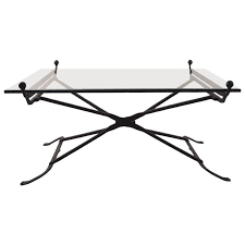 wrought iron glass top coffee table in the gothic style for