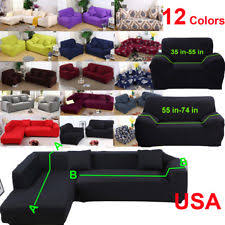 Sectional covers Luxury 12 Colors Stretch Couch Slipcover Sofa Cover Shape Sectional Corner Seater Wayfair Sectional Slipcovers Ebay