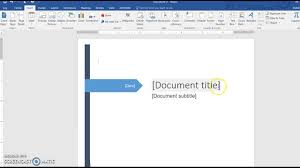 creating a cover page in word creating a cover page in word