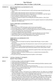 Resume Examples For Sales Representative Territory Sales Representative Resume Samples Velvet Jobs 5