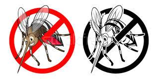 prohibition sign mosquito cartoon character stock photo ridjam