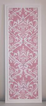 Damask Memo Board Pink White Damask fabric White Wood Framed Memo Board by 43