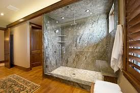 traditional shower designs. Traditional Bathroom With Pine Wood Floor And Granite Shower Tile Designs