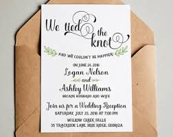 i do me too now let's party elopement wedding Wedding Announcement And Reception Invitation wedding reception invitation, we tied the knot! elopement announcement wedding announcement reception invitation