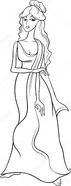 Greek Goddess Aphrodite Coloring Page Stock Vector Izakowski