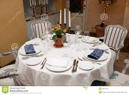 Table Setting In French Table Setting In A Restaurant Stock Image Image 36044731