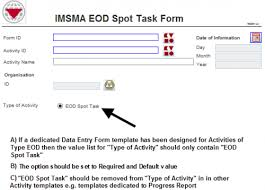 entry form templates standardising data entry forms imsma wiki