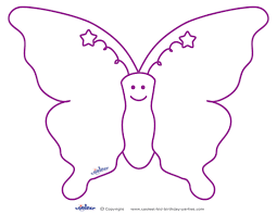 Printable Butterfly Template : Coloring Free - Coloring Pages