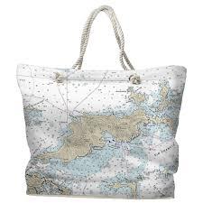 Bvi Navigation Charts Bvi Tortola Bvi Nautical Chart Tote Bag