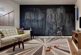 a mid century modern living room features a large chalkboard focal wall that changes daily image lubrano ciavarra