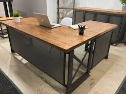 attractive wooden office desk. Excellent Large L Shaped Desk Wood Stunning Ideas Throughout . Attractive Wooden Office