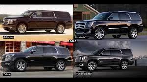 All Chevy chevy 2015 suv : 2015] Cadillac Escalade vs. Chevy Suburban vs. GMC Yukon Denali vs ...
