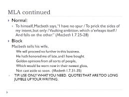notes about the compare contrast essay macbeth overview  mla continued  normal  to himself macbeth says i have no spur