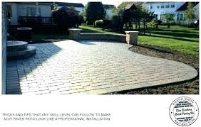 how much does a paver patio cost per square foot per square foot patio s brick