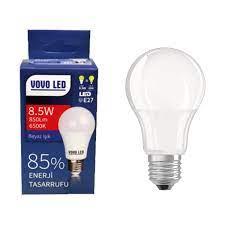 Vovo Enerji Tasarruflu LED Ampul E-27 Beyaz 8,5 W Fiyatı