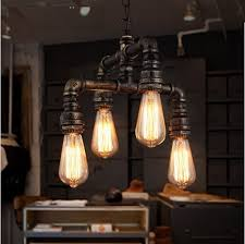 industrial style dining room lighting. water pipe loft style lamp edison pendant lights fixtures vintage industrial hanging for dining room lighting d