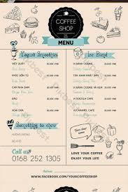 Vintage Hand Drawn Tea And Coffee Menu Template Ai Free