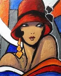 Portrait expressionniste, peinture unique & originale sur toile ...